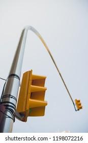 Traffic semaphore. Red light and green light. Pedestrians walking semaphore.