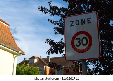 Traffic Sign for 30 (Thirty) Speed Limit for Residential Zone