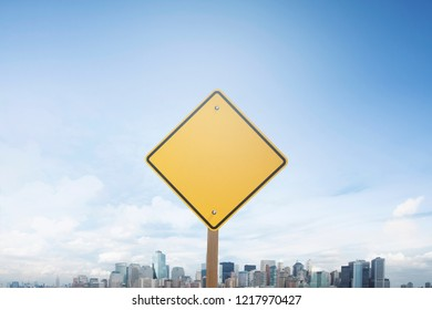 Traffic sign concept blank