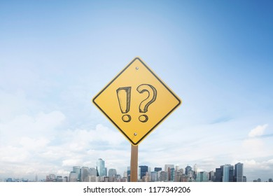 Traffic sign concept question mark