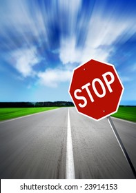 traffic sign of the foots daytime