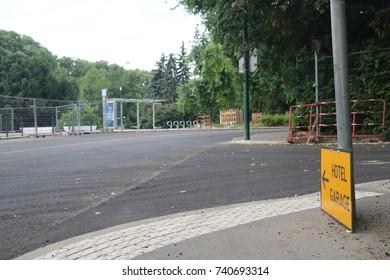 Traffic sign - hotel