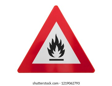 Traffic sign isolated - Fire - Isolated on white