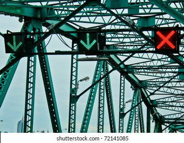 Traffic Sign on the Bridge