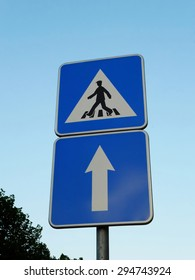 Traffic sign for pedestrian zone