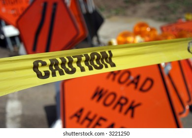 """traffic sign"" series ""caution tape"""