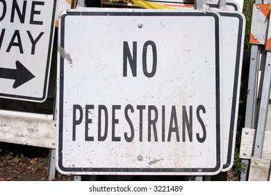 """""""traffic sign"""" series """"no pedestrians"""""""