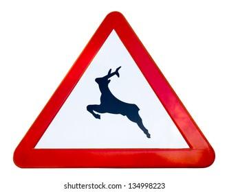 Deer Recreation Symbol Highway Route Sign