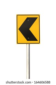 Traffic sign (with clipping path) isolated on white background