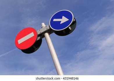 """traffic signal """"Prohibited""""and """"direction"""""""
