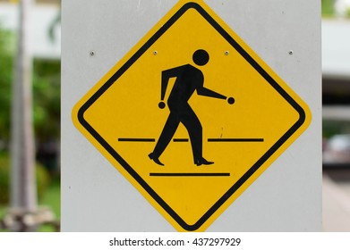 Traffic Signs Be careful crossing the street
