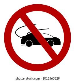 traffic signs for Do not turn drift