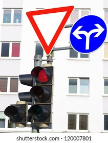 Traffic signs and traffic lights