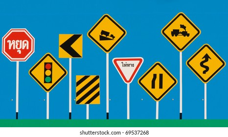 traffic signs in Thailand