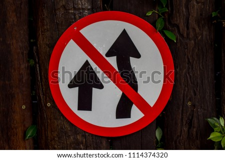 Traffic Signs Wall Decoration Stock Photo Edit Now 1114374320