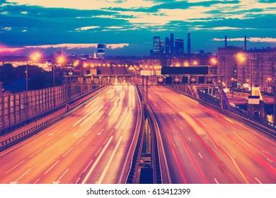 traffic through downtown