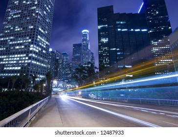 Traffic through downtown Los Angeles