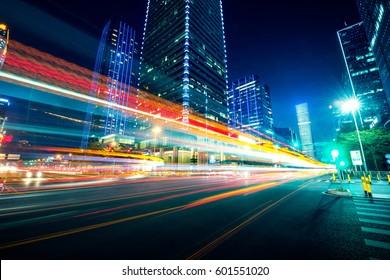 Traffic through the modern city