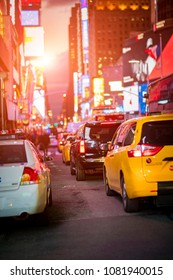 traffic in Times Square in New York