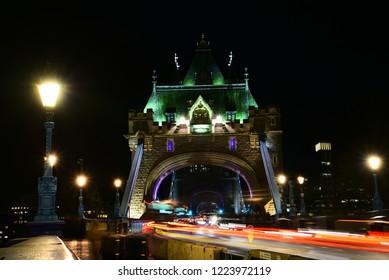 The traffic of Tower Bridge