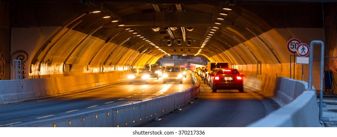 traffic in a tunnel background