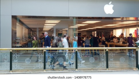 Trafford, Manchester, UK 05/27/2019  Apple retail store shop front.