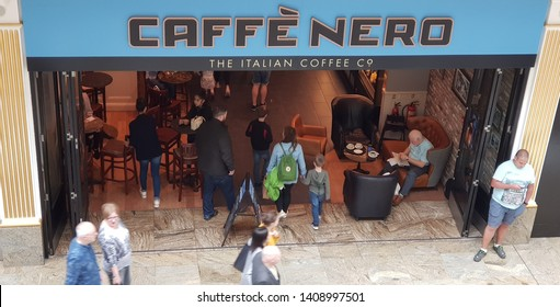 Trafford, Manchester, UK 05/27/2019 Cafe Nero retail store shop front.