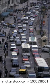the trafic in the city in Cairo in Egypt      Egypt, Cairo, April, 2002
