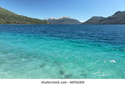 Traful Lake in Argentina is cold, clear, and amazingly blue.
