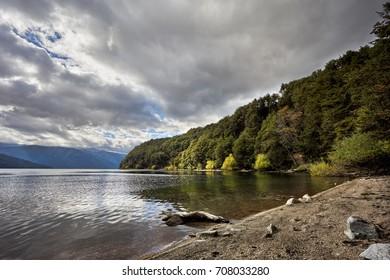 Traful lake, Seven Lakes Route  Neuquen, Patagonia, Argentina