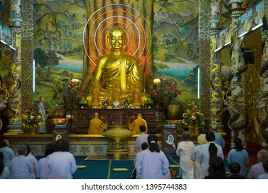 TRAI MIT, VIETNAM - DECEMBER 27, 2015: In the Buddhist temple Chua Linh Phuoc