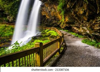 Trail behind Dry Falls,  in Nantahala National Forest, North Carolina.