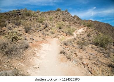 Trail up Camelback mountain in Phoenix, Arizona
