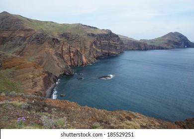 The trail to the Cape of Ponta de Sao Lourenco, Madeira, Portugal, Europe