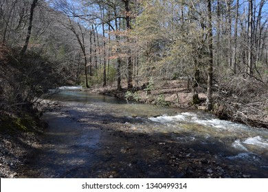 Trail crossing Brier Creek in Ouachita National Forest Arkansas