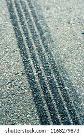 trail deceleration of automobile tires on asphalt