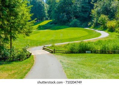 Trail at the golf course.