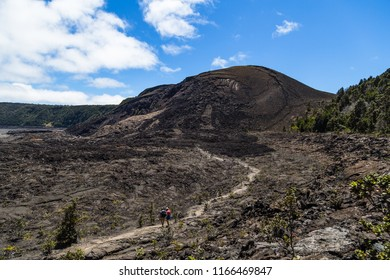 Trail inside Kilauea Iki Crater