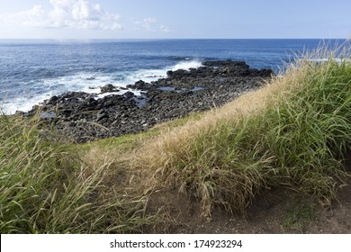 trail to Kaena point, the most western point on the island of Oahu, Hawaii