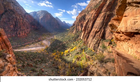 Trail leading to Angels Landing, in Zion National Park.