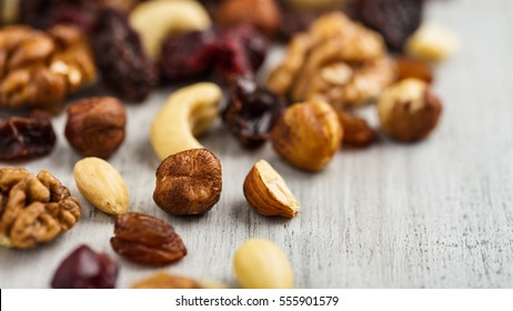 Trail mix - variation of fruits and nuts