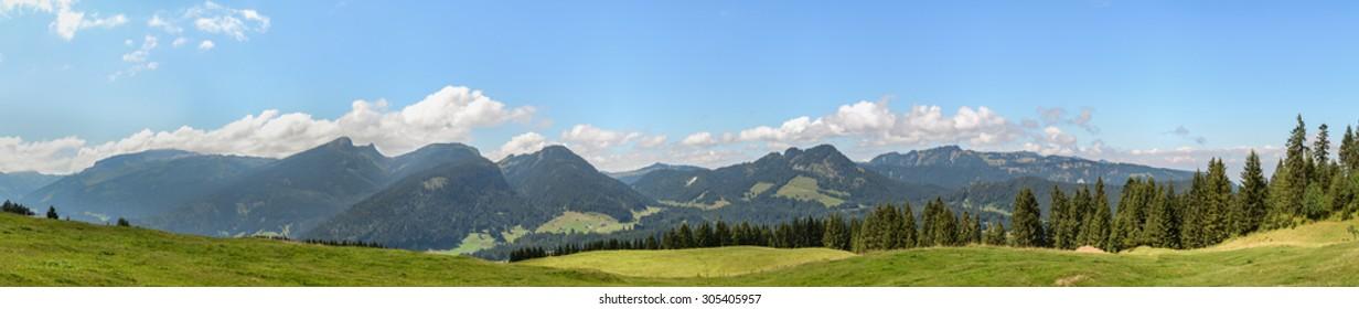 Trail Söllereck, Riezlern, Kleinwalsertal, Austria