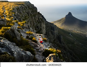 Trail runner in Cape Town