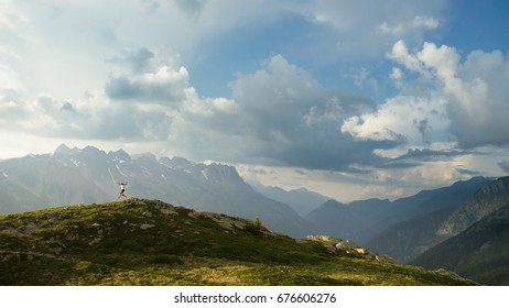 Trail running in the Alps
