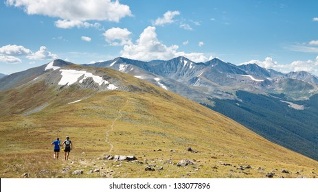 Trail Running in the Rocky Mountains, Colorado, USA