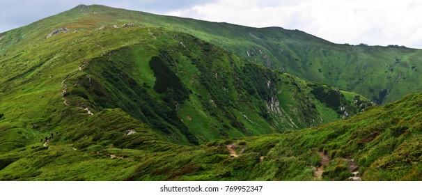 Trail through the mountains