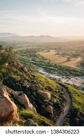 Trail and view from Mount Rubidoux in Riverside, California