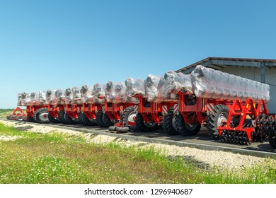 Trailed agricultural equipment. Products of the plant for the production of agricultural machinery.