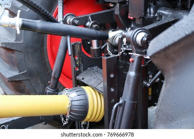 Trailed mechanism of a modern tractor. Power gimbal transmission.