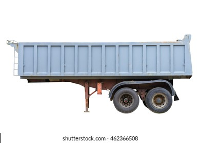 trailer for dump truck isolated on white background